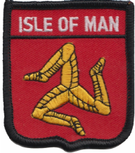 Isle of Man Flag Embroidered Patch (a127)